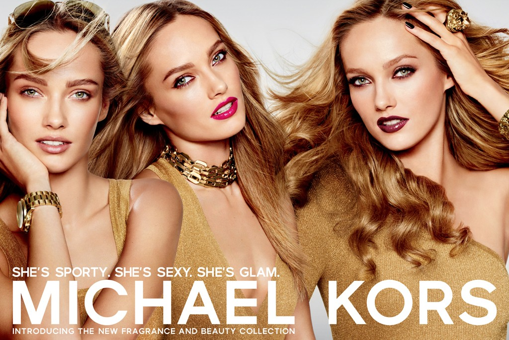 An ad for the Michael Kors cosmetics line.