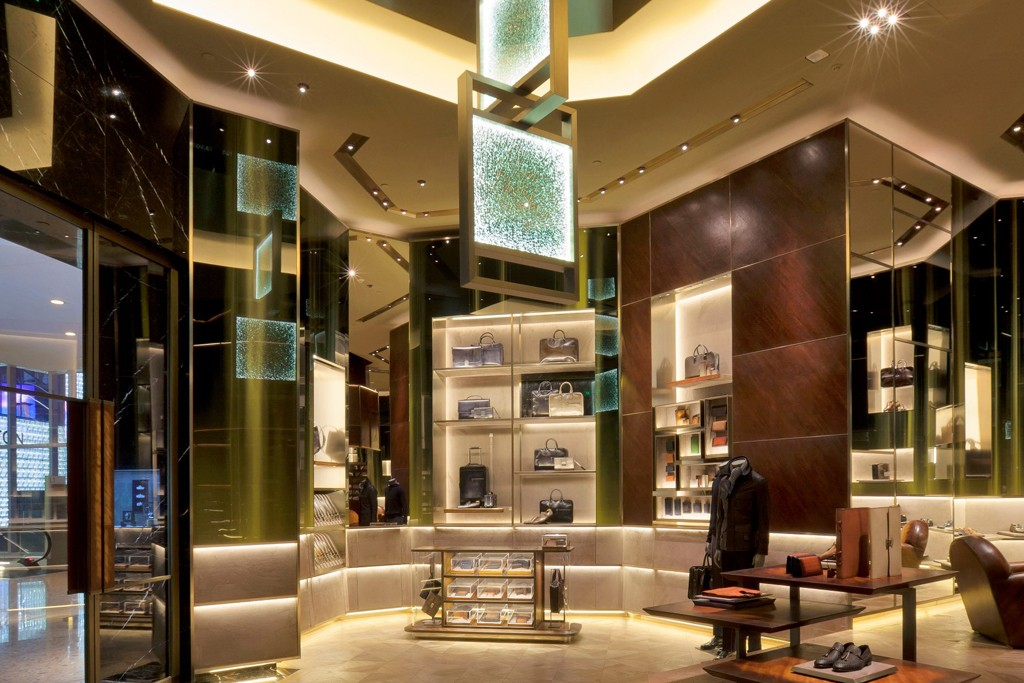 An interior view of Berluti new store in Shanghai.