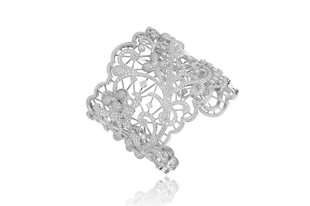 A bracelet from Chopard's Green Carpet Collection.