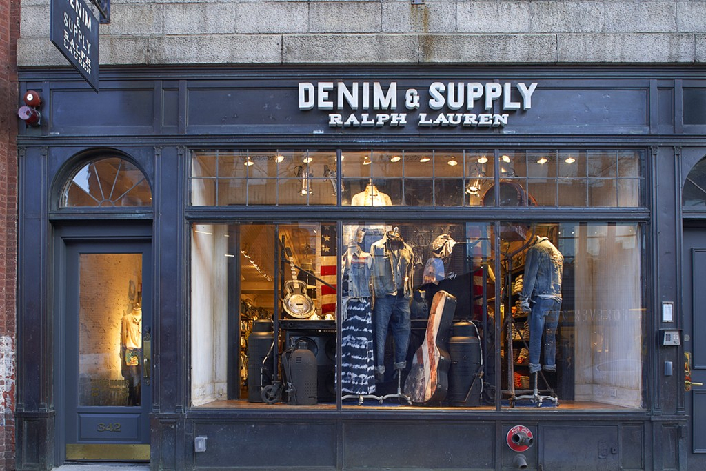 A view of the Denim & Supply store in Boston.