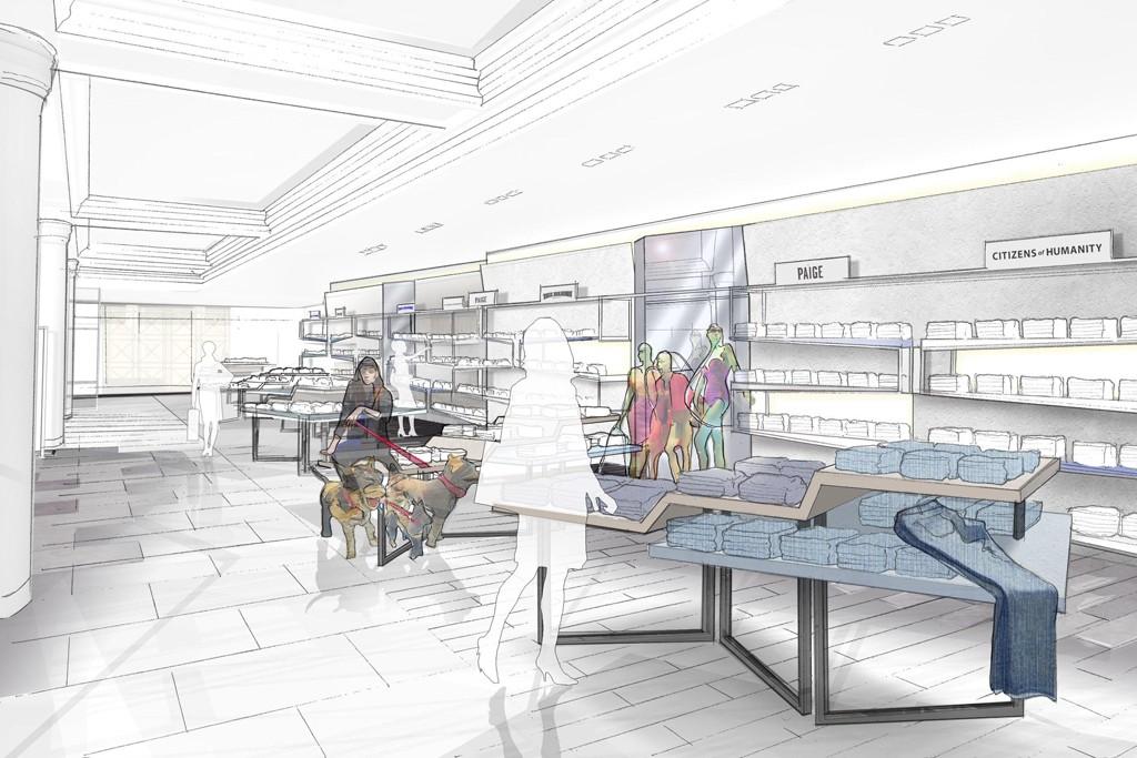 A rendering of The Denim Studio at Selfridges.