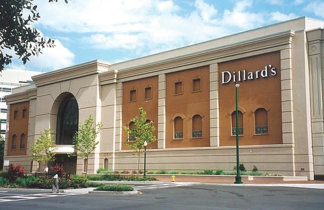 Exterior of a Dillard's store.