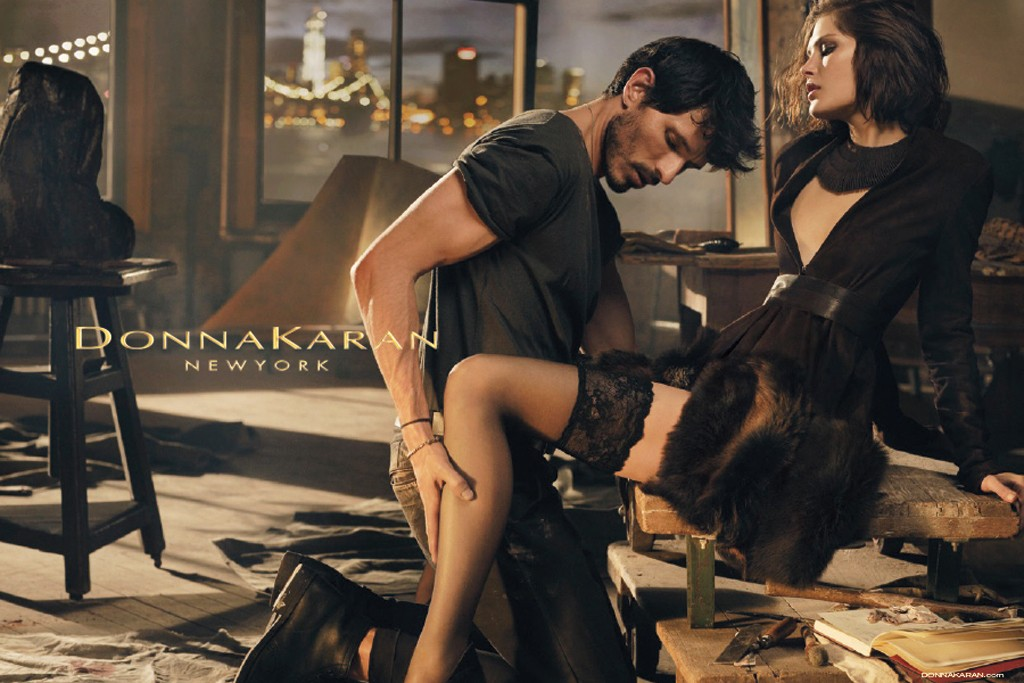 An image from Donna Karan's Fall '13 Collection campaign.