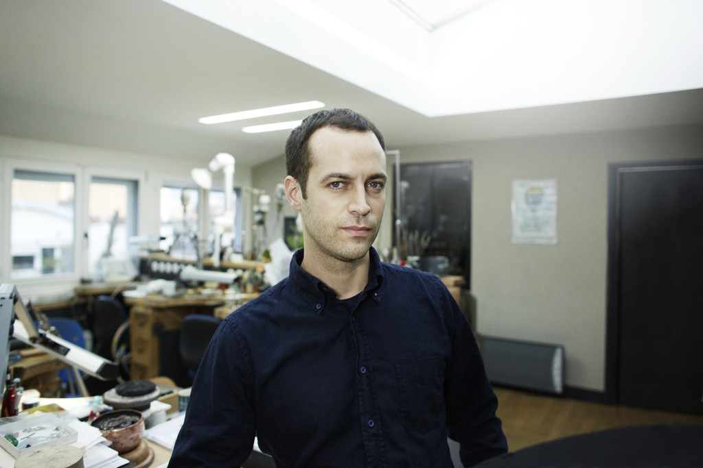Benjamin Millepied in the Van Cleef & Arpels ateliers.