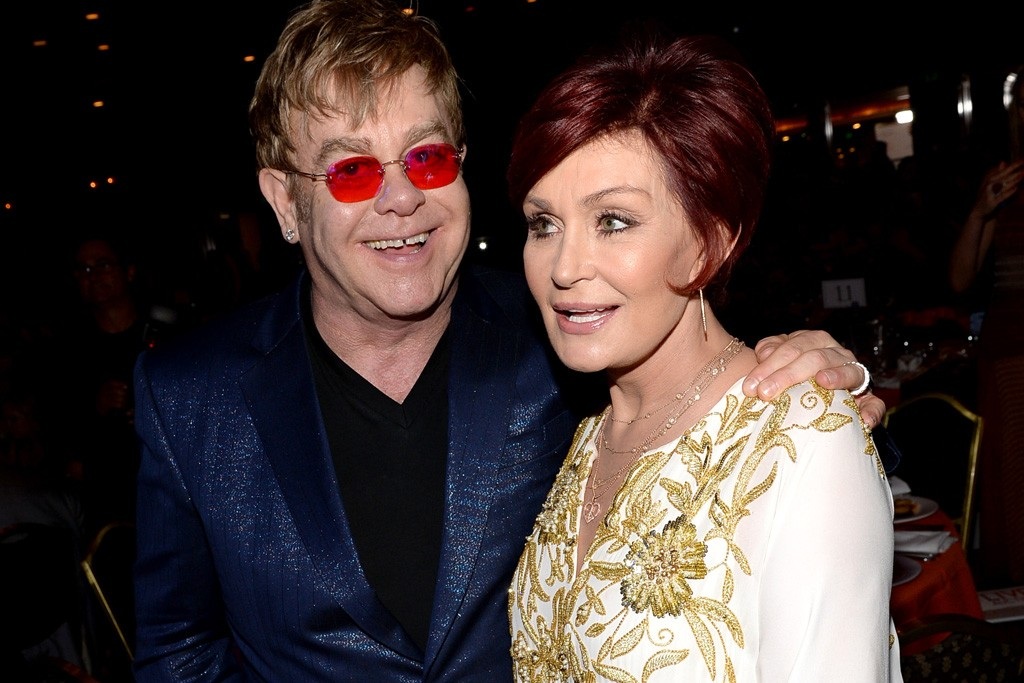 Elton John and Sharon Osbourne