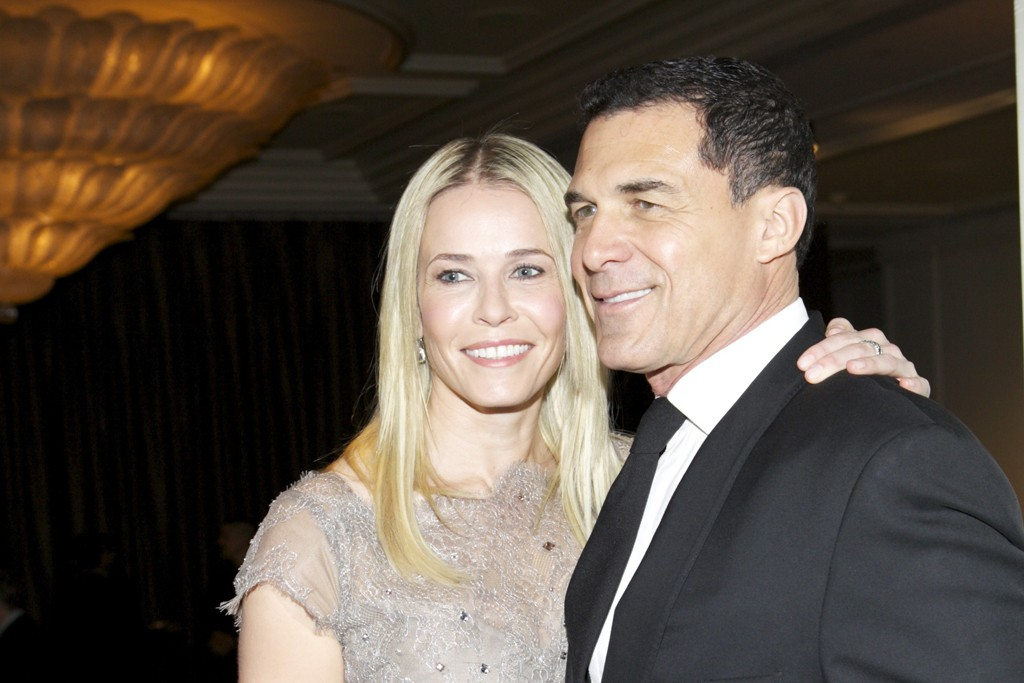 Chelsea Handler in Carolina Herrera and André Balazs.