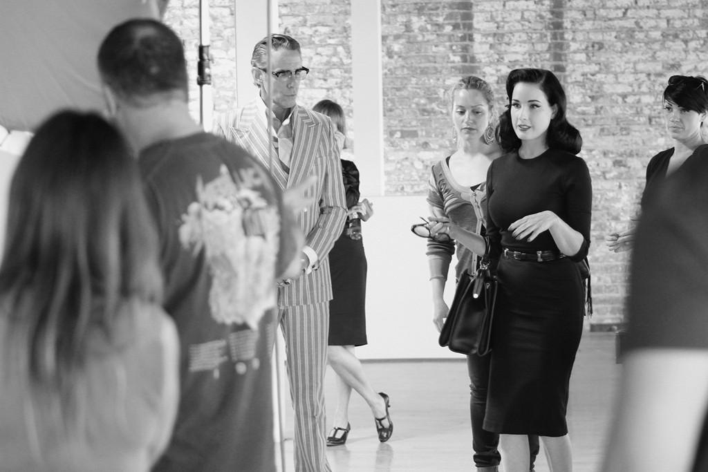 Behind the scenes of Dita Von Teese's Dita Eyewear ad campagin.