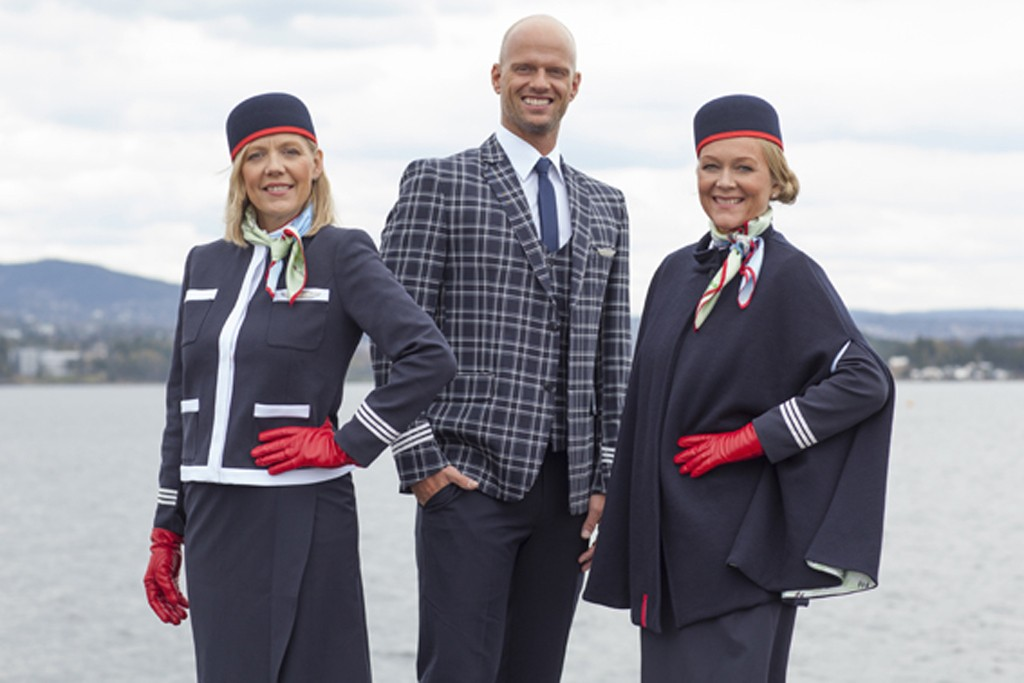 Norwegian Air Shuttle's uniforms designed by Moods of Norway.