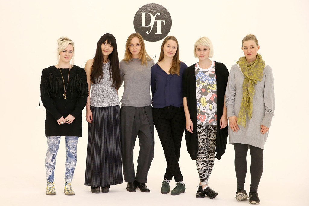 "Stella McCartney (third from left) with ""Designer for Tomorrow"" finalists Katy Clark, Jamie Wei Huang, Hannah Kuklinski, Ioana Ciolacu Miron and Annalena Skörl Maul."
