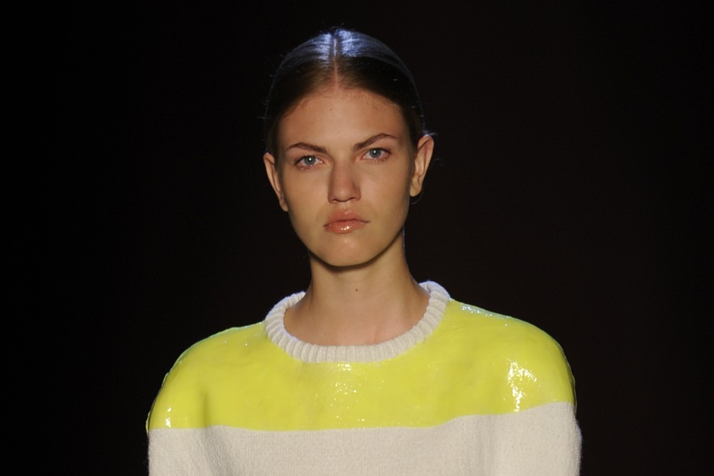 A look from Camille Kunz, winner of the Chloé award