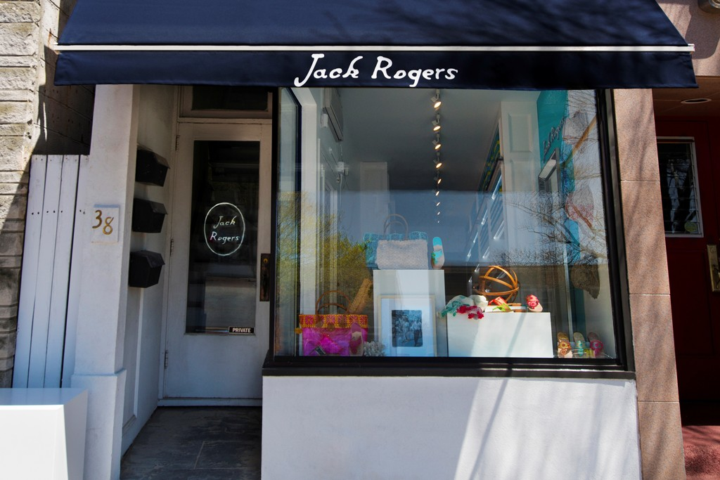The new Jack Rogers shop in East Hampton.
