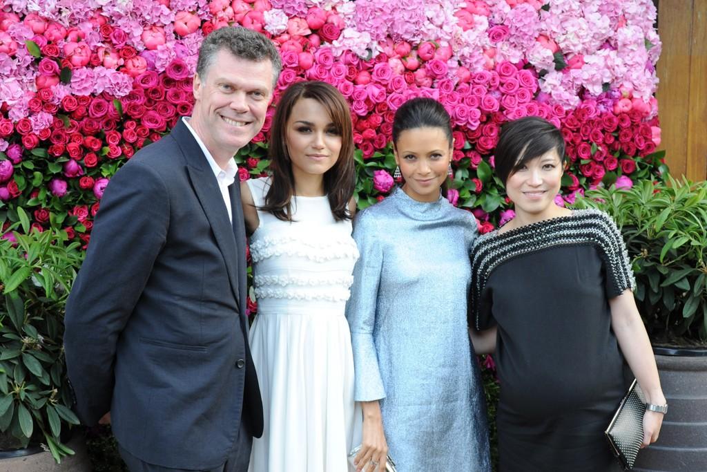 Pierre Denis, Samantha Barks, Thandie Newton and Sandra Choi.