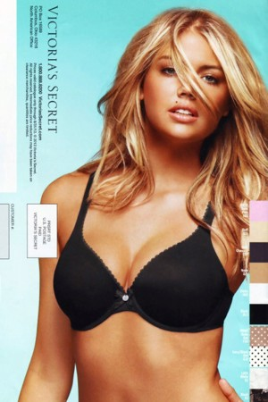 Kate Upton on the back page of the most recent Victoria's Secret catalogue.