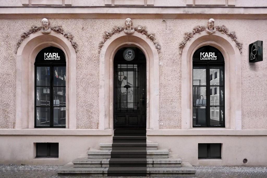 A rendering of the Karl Lagerfeld store in Berlin.