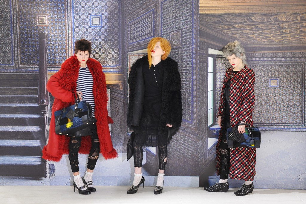 A look from the Loewe and Junya Watanabe collaboration.