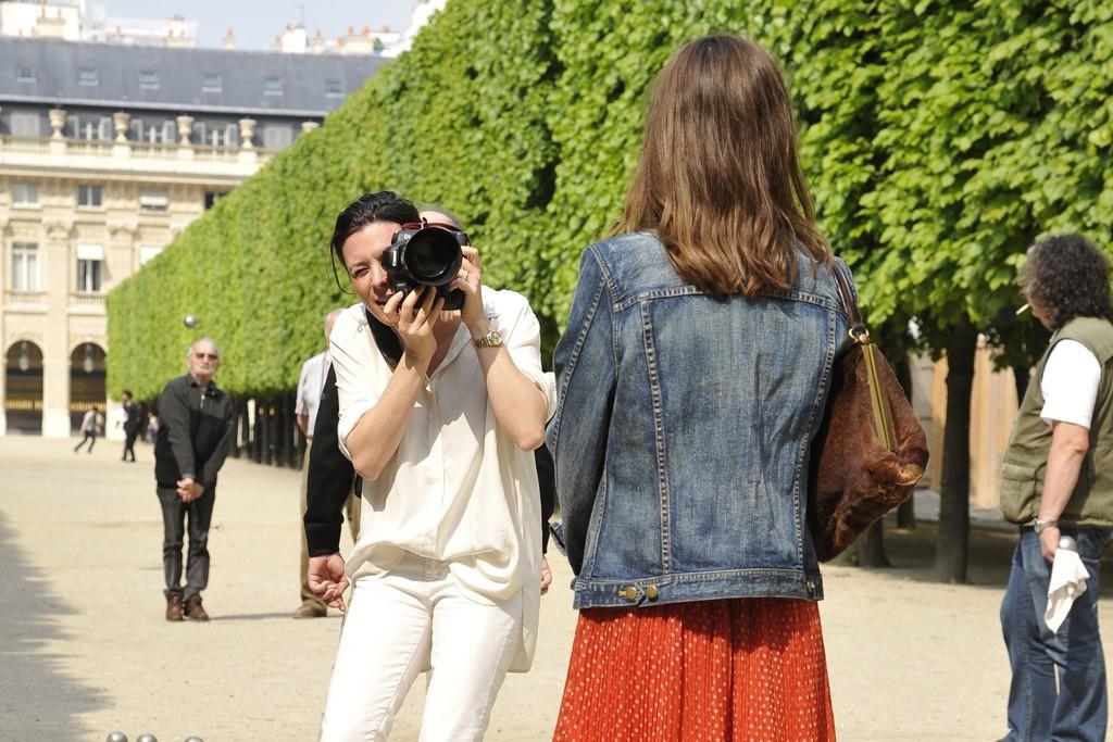 Garance Doré on location with Jeanne Damas.