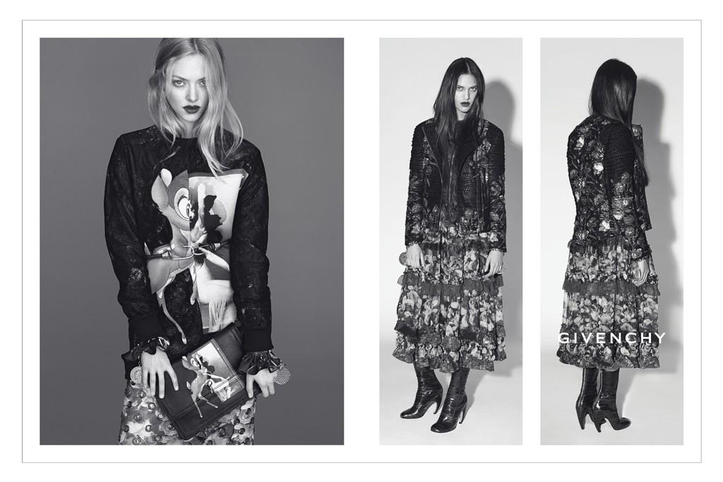Amanda Seyfried and Dalianah Arekion in the Givenchy campaign.