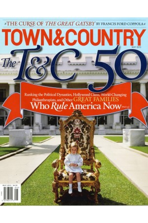The cover of the May 2013 issue of Town & Country.