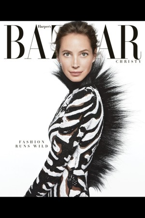 Daniel Jackson's shot of Christy Turlington on the June/July cover of Harper's Bazaar.