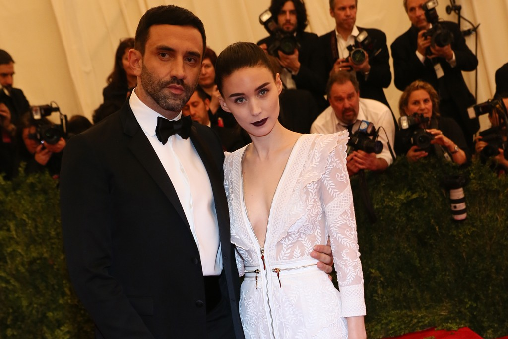 Rooney Mara in Givenchy with Riccardo Tisci.