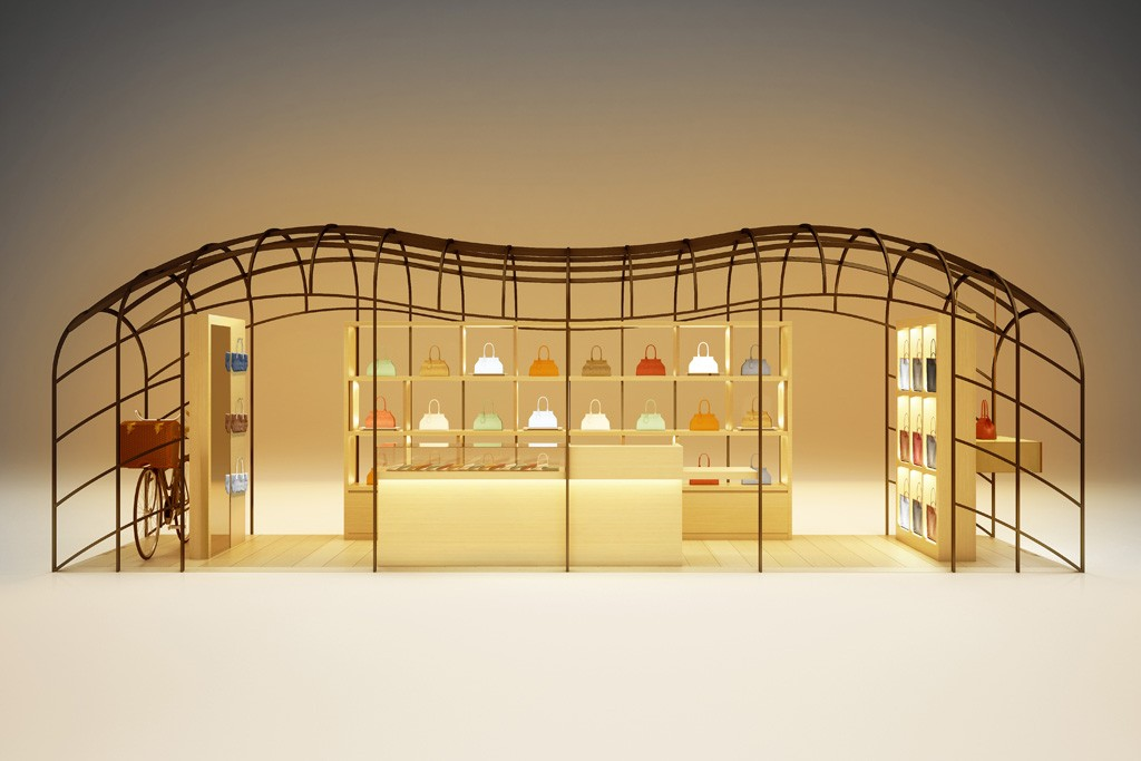 A rendering of the Moynat installation at Galeries Lafayette.