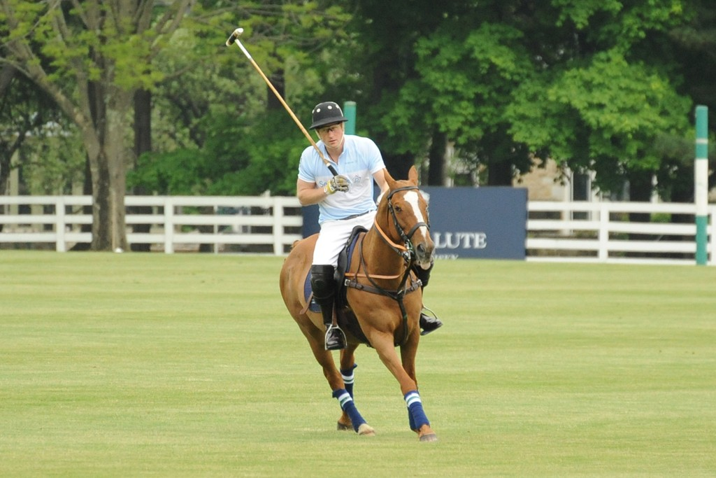 Prince Harry during the Sentebale Royal Salute Polo Cup.