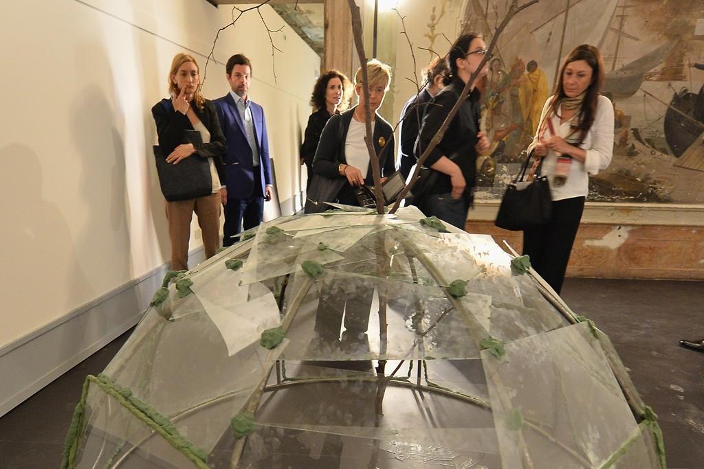 """The scene at the """"When Attitudes Become Form: Bern 1969/Venice 2013"""" exhibition at Fondazione Prada's Ca' Corner della Regina, Venice."""
