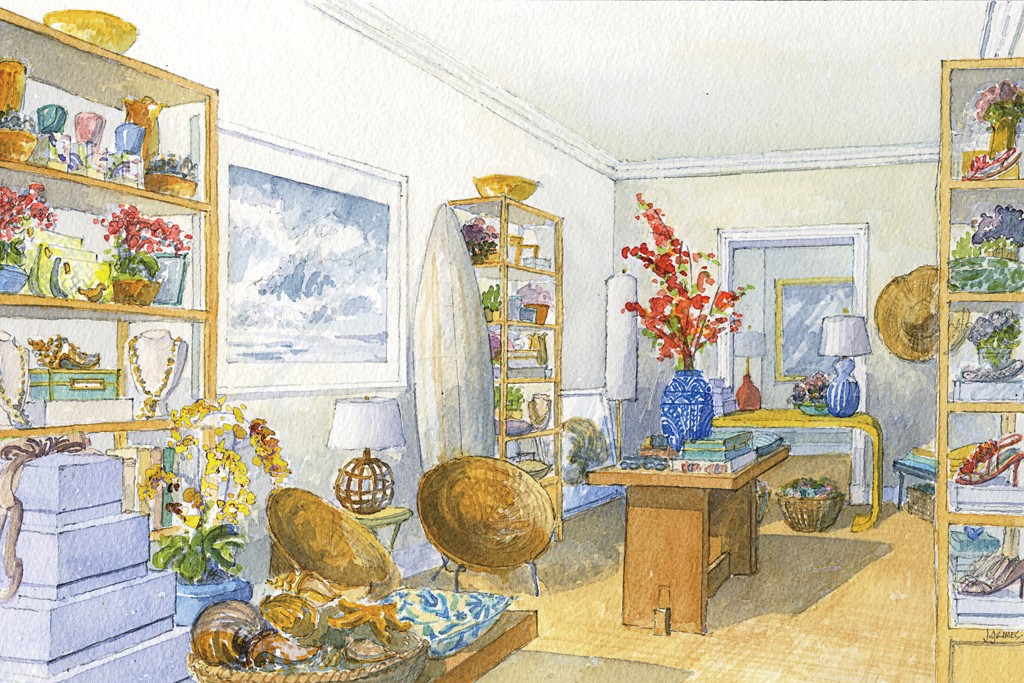 A rending of the Aerin Southampton store, slated to open in late May.