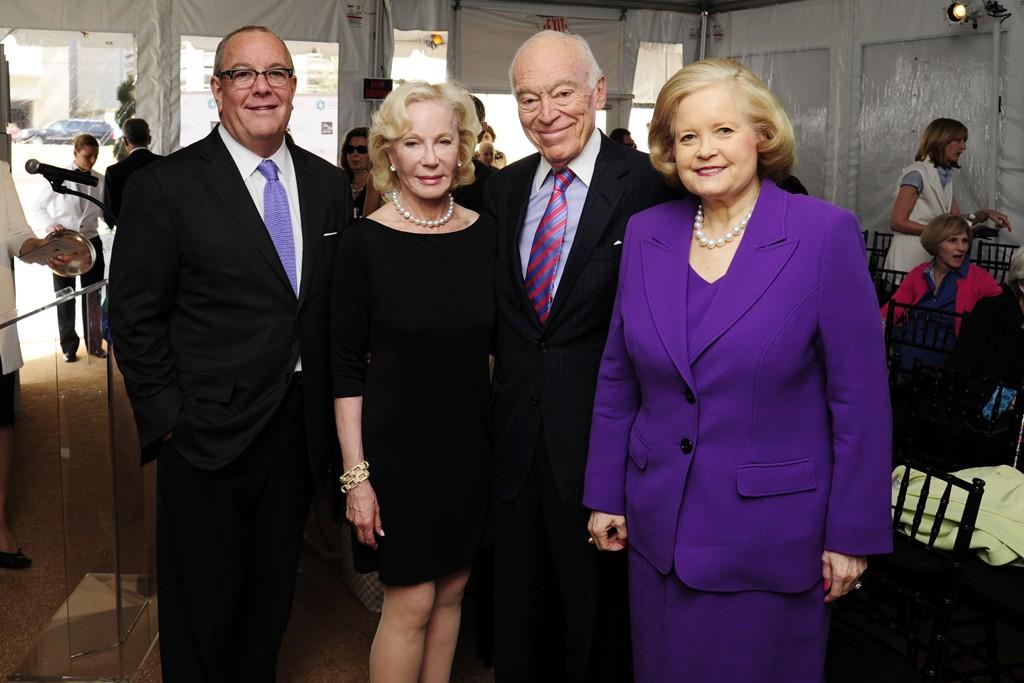 Ron Frasch, Nancy Corzine, Leonard Lauder and Sharon Percy Rockefeller