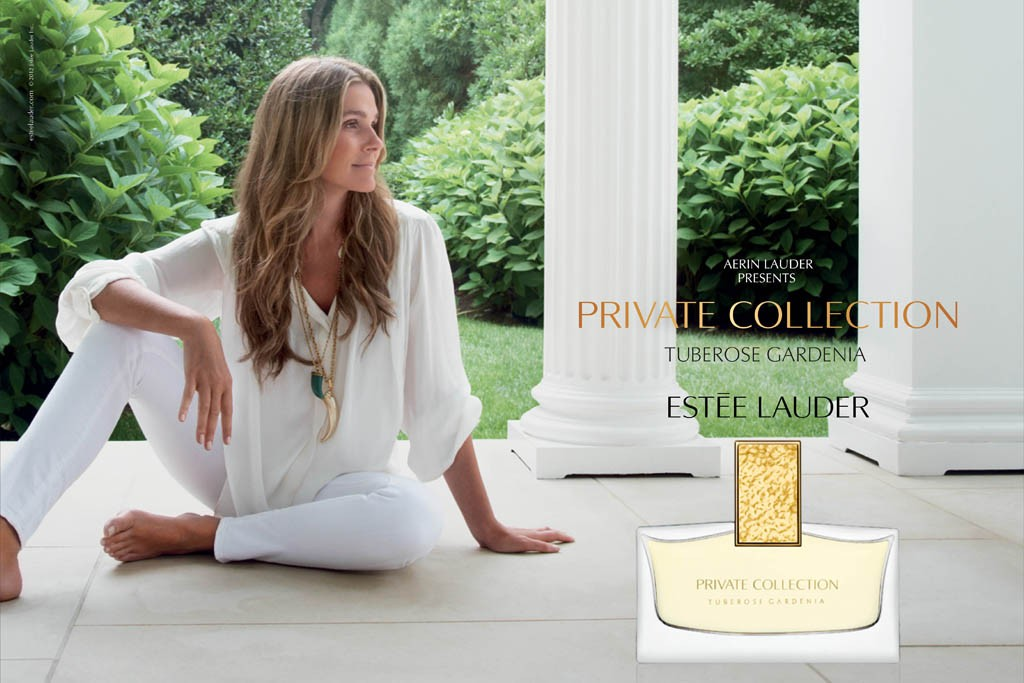 An ad for the Estée Lauder Private Collection.