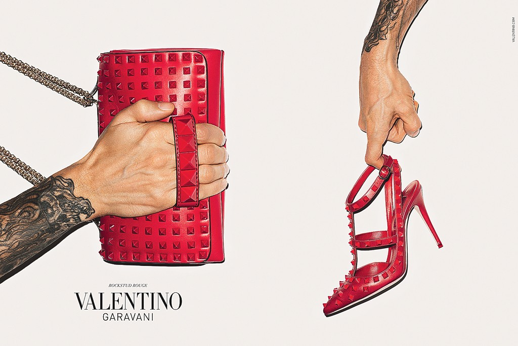 Valentino's fall accessories ad.