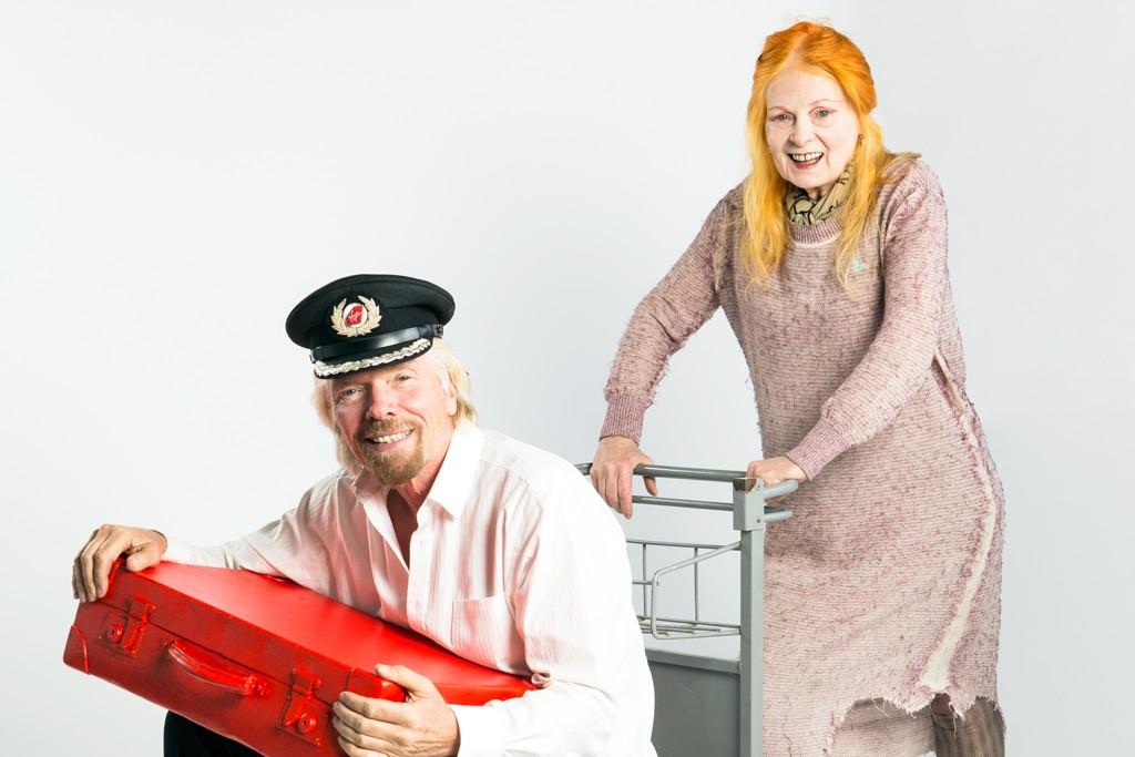 Vivienne Westwood and Richard Branson