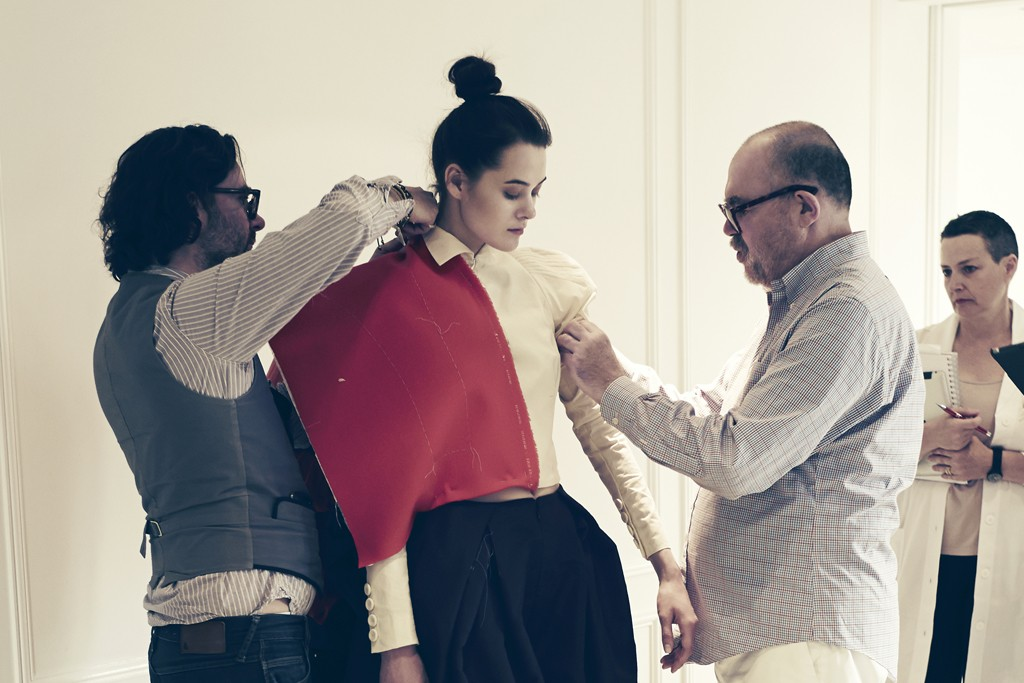 A behind-the-scenes look at Christian Lacroix working on the Schiaparelli tribute collection.