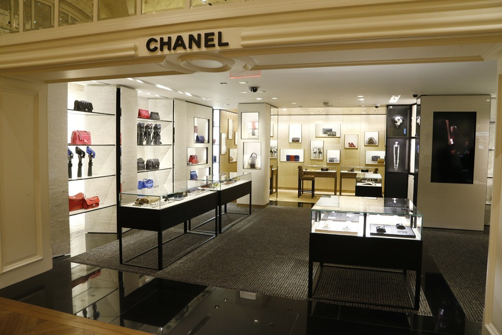 The Chanel boutique in Bergdorf Goodman.