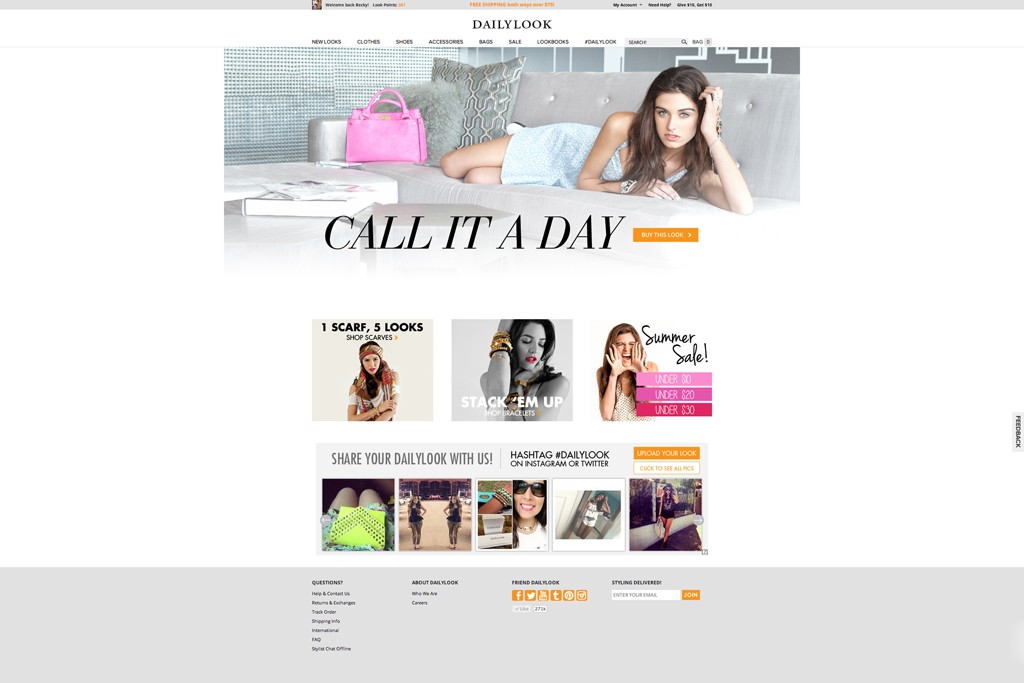 DailyLook's Web site.