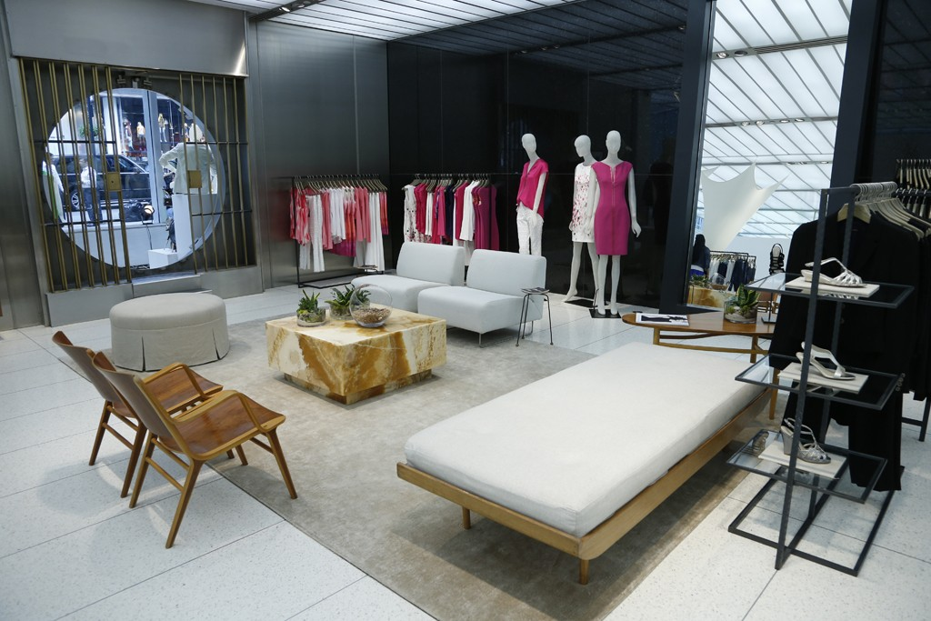 Inside the Elie Tahari Fifth Avenue store.