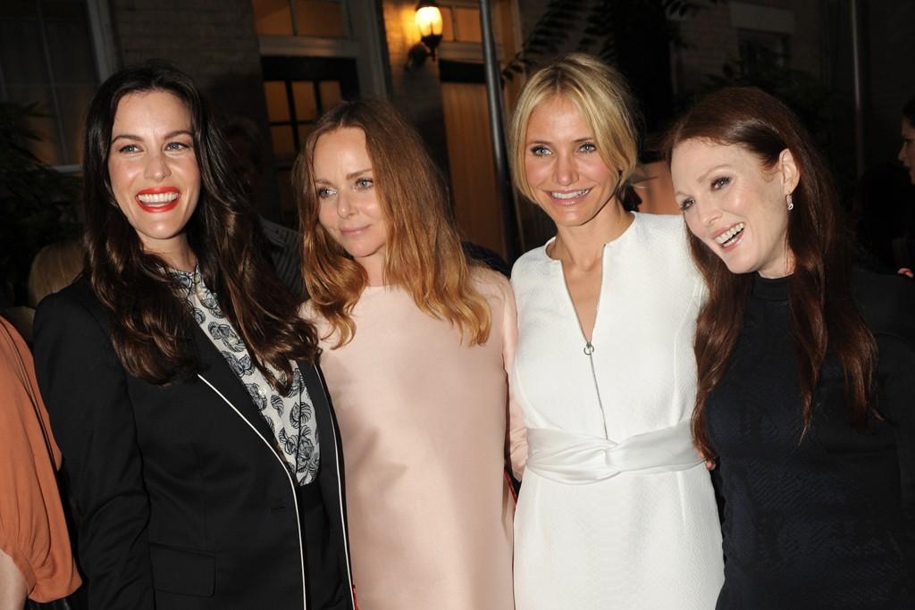 Liv Tyler, Stella McCartney, Cameron Diaz and Julianne Moore.