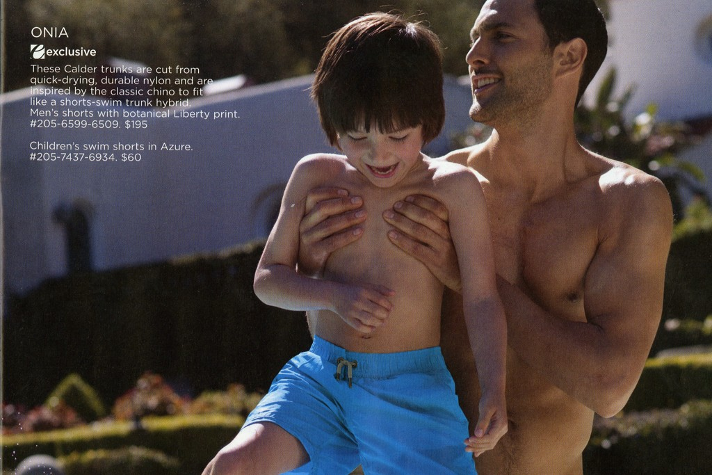 Saks Fifth Avenue is showcasing father-and-son swimwear in its Father's Day catalogue this year.
