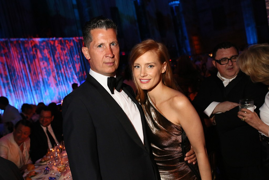 Stefano Tonchi and Jessica Chastain