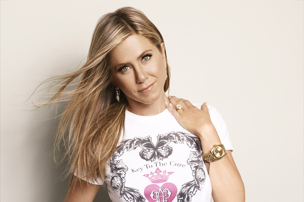 Jennifer Aniston in the Key to the Cure T.