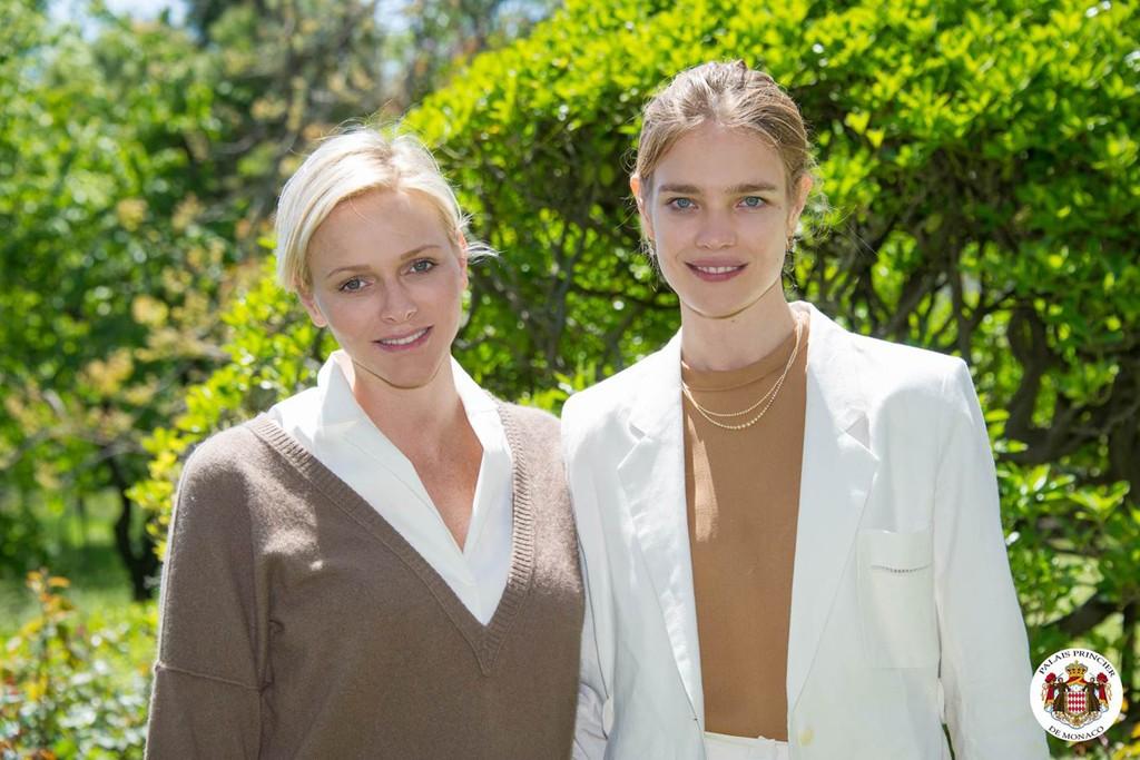 Natalia Vodianova and Charlene, Princess of Monaco.