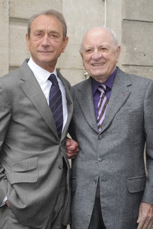 Bertrand Delanoë and Pierre Bergé