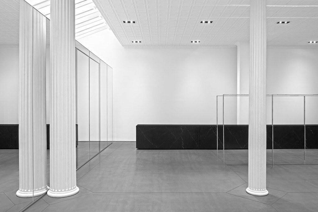 The Saint Laurent store prior to its opening.