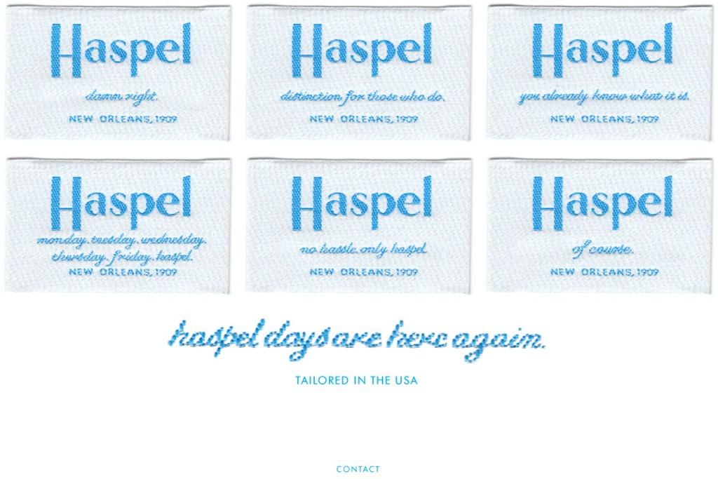 Haspel's labels.