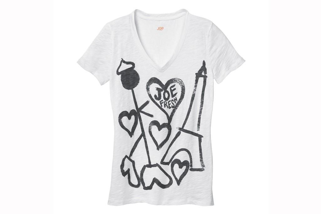 Joshua Abelow's T-shirt for Joe Fresh in SoHo.