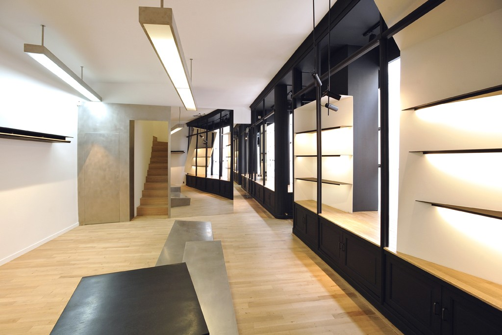 A view of the Kris Van Assche store in Paris.