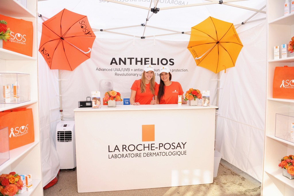 The scene at the La Roche-Posay Parasols Of Protection Event in Madison Square Park.