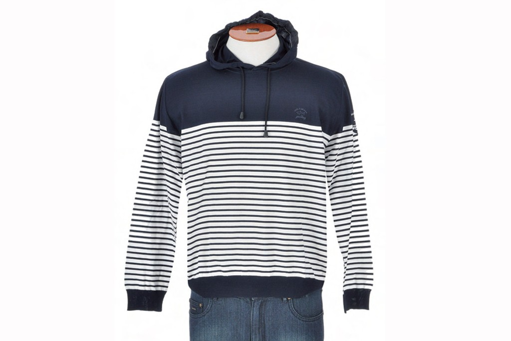 Paul & Shark, Admiral's Cup Collection cotton round-neck hoodie.