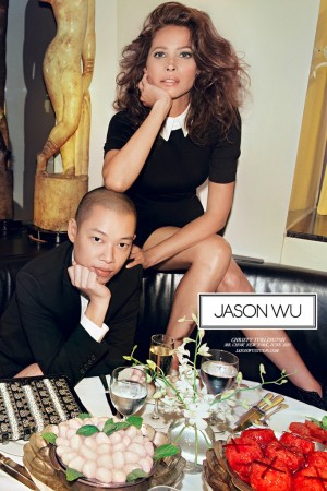 Jason Wu in a fall '13 ad with Christy Turlington.