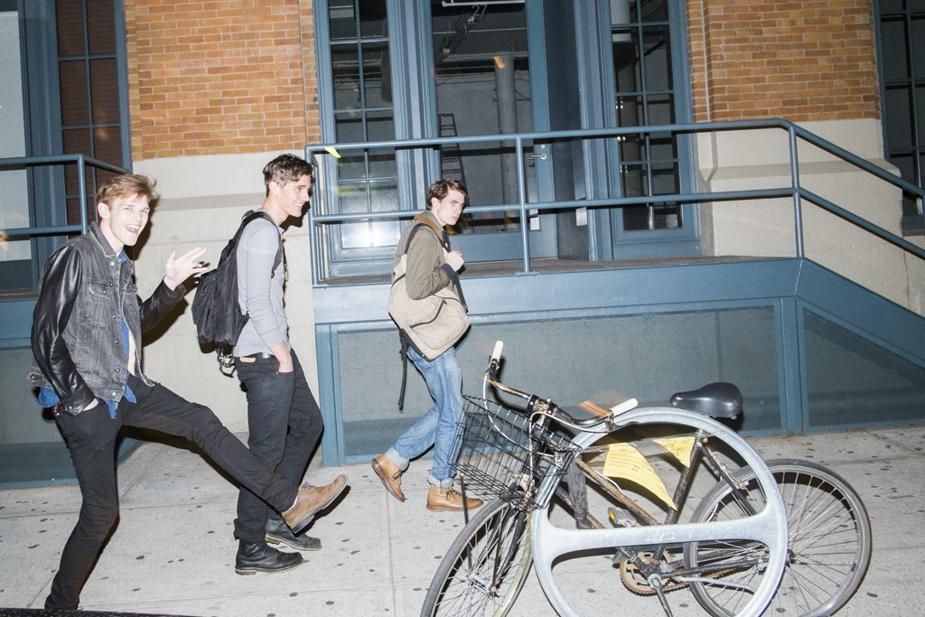 Alex Michels, Matt McGlone, and Marc Faiella on their way to The Standard hotel.